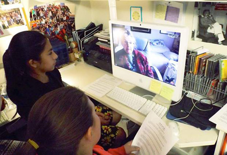 Basalt students chat online with Holocaust survivor