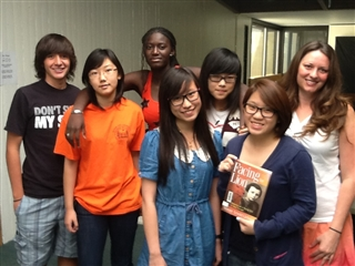 Michele Vaca and her Summer ESL students