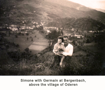 Simone with Germain at Bergenbach, above the village of Oderen